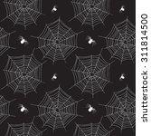 seamless pattern of spider web  ... | Shutterstock .eps vector #311814500