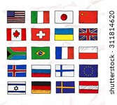 set of flags. hand drawn. | Shutterstock .eps vector #311814620