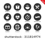 fitness vector icons set. sport ... | Shutterstock .eps vector #311814974