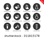 flask vector icons set.... | Shutterstock .eps vector #311815178