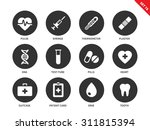 medical tools vector icons set. ... | Shutterstock .eps vector #311815394