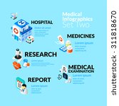 Постер, плакат: Medical healthcare infographic set