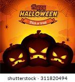 halloween party design  vector... | Shutterstock .eps vector #311820494