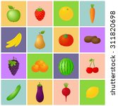 vegetables   fruits icon set | Shutterstock . vector #311820698