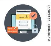 transactions theme  flat style  ...   Shutterstock .eps vector #311828774