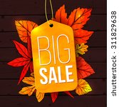 Big Sale Banner With Autumn...