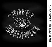 happy halloween typographical...   Shutterstock .eps vector #311830196