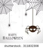 halloween party design  vector... | Shutterstock .eps vector #311832308