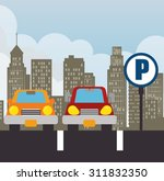 parking zone design  vector...   Shutterstock .eps vector #311832350