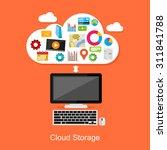 cloud storage or cloud...   Shutterstock .eps vector #311841788