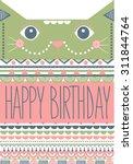happy birthday card design | Shutterstock .eps vector #311844764