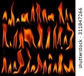 high resolution fire collection ... | Shutterstock . vector #311847266