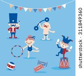 circus characters and stuffs ... | Shutterstock .eps vector #311849360