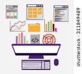 seo digital design  vector... | Shutterstock .eps vector #311849489