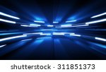 shining blue glow. computer... | Shutterstock . vector #311851373