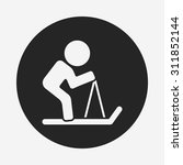 skiing icon | Shutterstock .eps vector #311852144