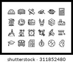 vector icon set in a modern... | Shutterstock .eps vector #311852480
