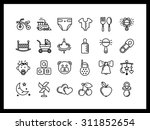vector icon set in a modern... | Shutterstock .eps vector #311852654
