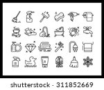 vector icon set in a modern... | Shutterstock .eps vector #311852669