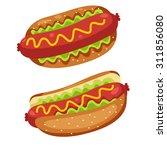illustrator of fast food | Shutterstock .eps vector #311856080