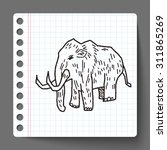 mammoth doodle | Shutterstock .eps vector #311865269