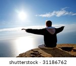 fly to sun. element of design. | Shutterstock . vector #31186762