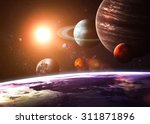 Solar system and space objects. ...