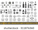 over 50 beer labels  icons and... | Shutterstock .eps vector #311876360