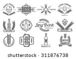 vector beer labels. | Shutterstock .eps vector #311876738