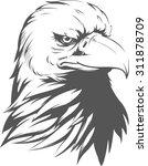 bald eagle silhouette | Shutterstock .eps vector #311878709