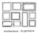 set of vintage frames hand... | Shutterstock .eps vector #311879474