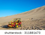 dune buggy at the foot of a...   Shutterstock . vector #311881673