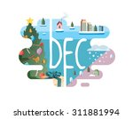 calendar collection   december... | Shutterstock .eps vector #311881994