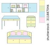 furniture for children's room.... | Shutterstock . vector #311887046
