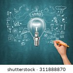 idea background with lamp ... | Shutterstock . vector #311888870