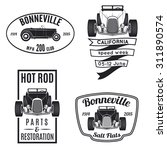set of vintage hot rod icons.... | Shutterstock . vector #311890574