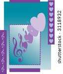 a background of love and music   Shutterstock .eps vector #3118932