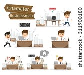 Businessman Character On Offic...