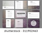 set of 9 vector templates for... | Shutterstock .eps vector #311902463