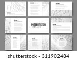 set of 9 templates for... | Shutterstock .eps vector #311902484