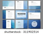set of 9 vector templates for... | Shutterstock .eps vector #311902514