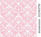 vector damask seamless pattern... | Shutterstock .eps vector #311903750