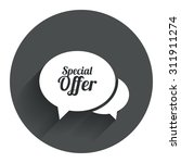 speech bubble special offer...