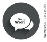 chat speech bubbles. free wifi...