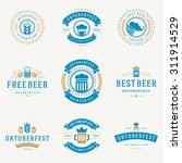retro style labels  badges and... | Shutterstock .eps vector #311914529