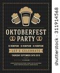 oktoberfest beer festival... | Shutterstock .eps vector #311914568