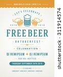 oktoberfest beer festival... | Shutterstock .eps vector #311914574