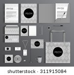 corporate identity template... | Shutterstock .eps vector #311915084