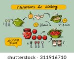 tomato sauce  step by step... | Shutterstock .eps vector #311916710