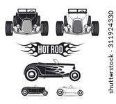 hot rod car illustrations